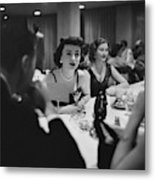 Mrs. Sidney Wood And Mrs. Stass Reed Sitting Metal Print