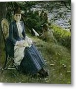 Mrs Symons In Scotland Metal Print