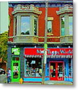 Mrs Tiggy Winkle's Toy Shop And Lost Marbles Richmond Rd The Glebe Paintings Ottawa Scenes C Spandau Metal Print