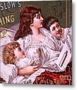 Mrs Winslow's Soothing Syrup Metal Print