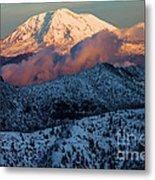 Mt Adams Sunset Metal Print