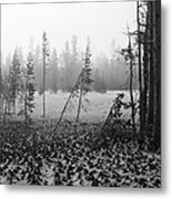 Mt Bachelor Road Metal Print