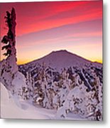 Mt. Bachelor Winter Twilight Metal Print