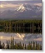 Mt Drum Over Willow Lake Wrangell-st Metal Print