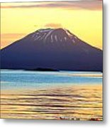 Mt. Edgecombe Bright Sunset Metal Print by Ashley  Kinney-Maravilla