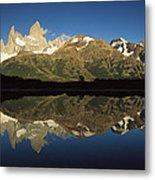 Mt Fitzroy At Dawn Patagonia Metal Print