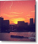 Mt Fuji At Sunset Over Yokohama Bay Metal Print by Beverly Claire Kaiya