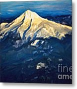 Mt. Hood From Above Metal Print
