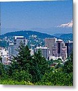 Mt Hood Portland Oregon Usa Metal Print