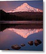 Mt Hood Reflection Metal Print