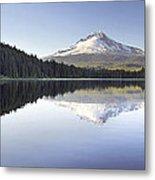 Mt Hood Reflection On Trillium Lake Panorama Metal Print