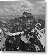 T-703512-bw-mt. Hungabee From Summit Of Mt. Lefroy-bw Metal Print