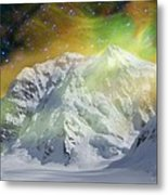 Mt. Hunter Aurora # Da 129 Metal Print