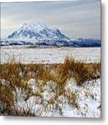 Mt Illimani In Winter Metal Print
