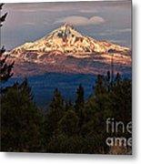 Mt. Jefferson At Dawn Metal Print
