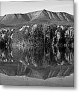Mt Katahdin Black And White Metal Print