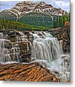 Mt. Kerkeslin  Athabasca Falls Metal Print
