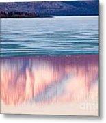 Mt Laurier Mirrored On Lake Laberge Yukon Canada Metal Print