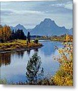 1m9208-mt. Moran And The Snake River, Wy Metal Print