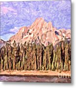 Mt Moran From Colter Bay Metal Print