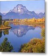 1m9234-mt. Moran Reflection, Wy Metal Print