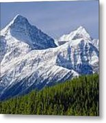 1m3627-mt. Outram And Mt. Forbes Metal Print