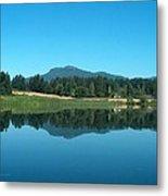 Mt Prevost Over Quamichan Lake Metal Print