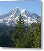 Mt. Rainier In Summer Metal Print