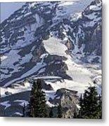 Mt Rainier Portrait Metal Print