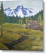 Mt Rainier Ranch Metal Print