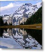 Mt. Rainier On Aurora Lake Metal Print