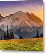 Mt. Rainier Sunset 2 Metal Print