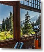 Mt. Rainier Visitor's Center Metal Print