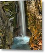 Mt Rainier Waterfall Metal Print