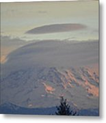 Mt Ranier Metal Print