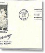 Mt Rushmore Twenty-fifth Anniversary Postcard Metal Print