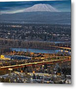 Mt Saint Helens During Blue Hour Metal Print