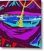 Mt. Shasta Moonlight Metal Print