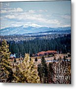 Mt. Spokane Metal Print