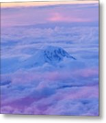 Above The Clouds At Sunset Metal Print