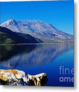 Mt St Helens Reflecting Into Spirit Lake   Metal Print