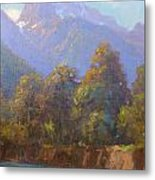Mt. Tewhero Holyford V.landscape Metal Print by Terry Perham
