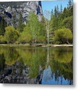Mt Watkins Reflected In Mirror Lake Metal Print