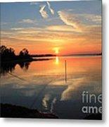 Mud Cove Sunset Metal Print