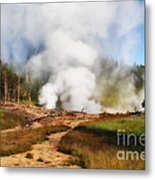 Mud Volcano And Sulphur Caldron  Metal Print