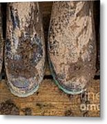 Muddy Boots On Deck Metal Print
