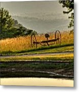 Muddy Pond Field Metal Print
