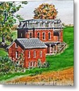 Mudhouse Mansion Metal Print