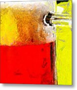 Mug Of Beer Painting Metal Print