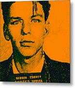 Mugshot Frank Sinatra V1 Metal Print by Wingsdomain Art and Photography